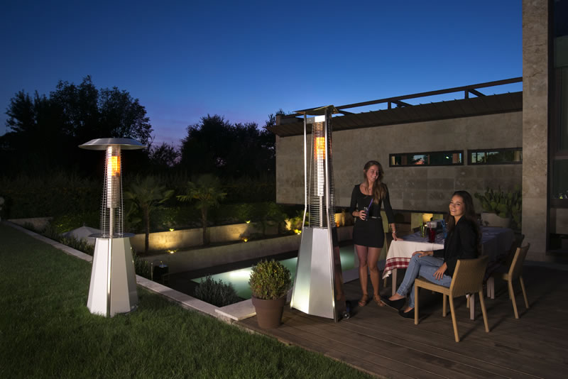 Pyramid Flame Tower Gas Patio Heater   9.3kW   Click For Larger Picture